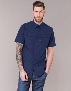 Textil Muži Košile s krátkými rukávy G-Star Raw 3301 SHIRT Tmavě modrá
