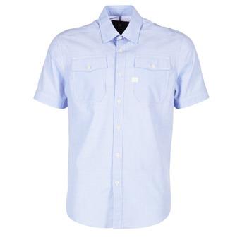 Textil Muži Košile s krátkými rukávy G-Star Raw LANDOH Modrá