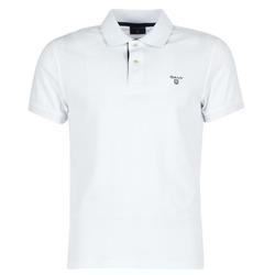Textil Muži Polo s krátkými rukávy Gant CONTRAST COLLAR PIQUE Bílá