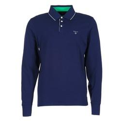 Textil Muži Polo s dlouhými rukávy Gant 3-COL CONTAST RUGGER Tmavě modrá