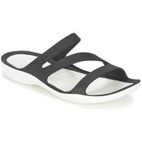 Boty Ženy Sandály Crocs SWIFTWATER SANDAL W Černá / Bílá