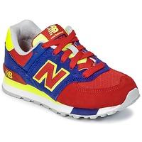 Boty Děti Nízké tenisky New Balance KL574 Modrá / Červená / Žlutá