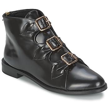 Boty Ženy Polokozačky F-Troupe Triple Buckle Boot Černá