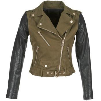 Textil Ženy Kožené bundy / imitace kůže Diesel L-LUPUS-C Khaki / Černá
