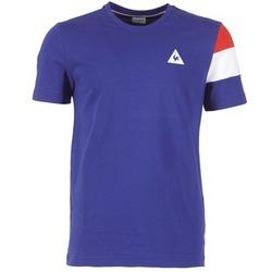 Textil Muži Trička s krátkým rukávem Le Coq Sportif BLUREA Modrá