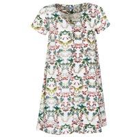 Textil Ženy Krátké šaty Compania Fantastica EPINETA Bílá / Zelená / Růžová