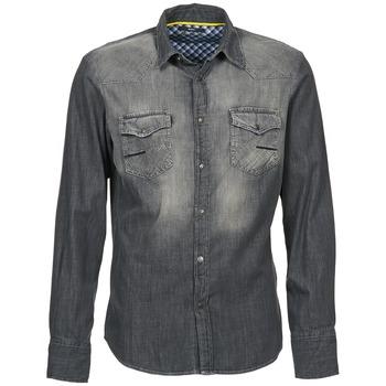 Textil Muži Košile s dlouhymi rukávy Meltin'pot CAREY Šedá