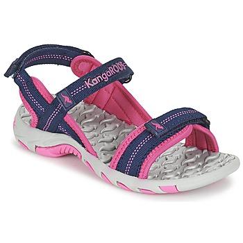 Boty Dívčí Sportovní sandály Kangaroos MUSER Tmavě modrá / Růžová