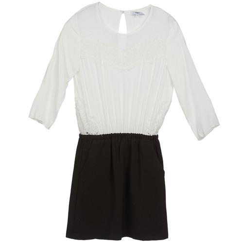 Textil Ženy Krátké šaty Suncoo CELESTINE Černá / Bílá