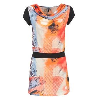 Textil Ženy Krátké šaty Smash CITRON Oranžová / Černá