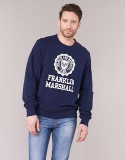 Textil Muži Mikiny Franklin & Marshall NESS OFRA Tmavě modrá