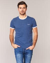 Textil Muži Trička s krátkým rukávem Teddy Smith THE TEE Modrá