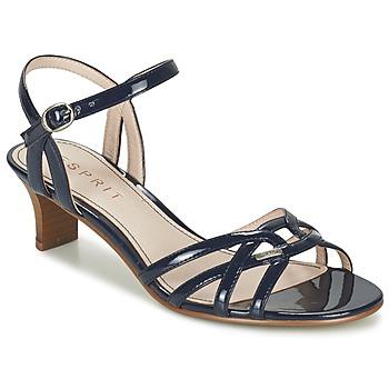Boty Ženy Sandály Esprit BIRKIN SANDAL Tmavě modrá