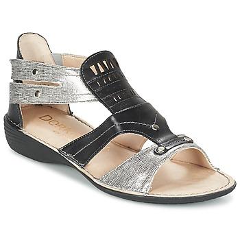 Boty Ženy Sandály Dorking ODA Černá / Stříbřitá