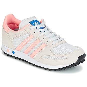 Boty Děti Nízké tenisky adidas Originals LA TRAINER J Bílá / Růžová