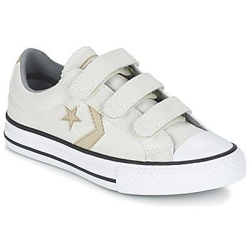 Boty Chlapecké Nízké tenisky Converse STAR PLAYER 3V TEXTILE OX Krémově bílá / Khaki