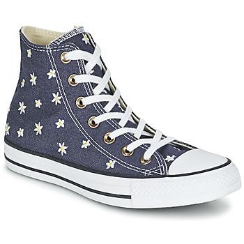 Boty Ženy Kotníkové tenisky Converse CHUCK TAYLOR ALL STAR DENIM FLORAL HI Tmavě modrá / Žlutá / Bílá