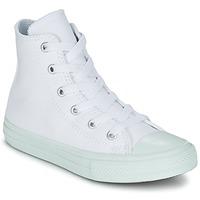 Boty Dívčí Kotníkové tenisky Converse CHUCK TAYLOR ALL STAR II PASTEL SEASONAL TD HI Bílá / Modrá / Nebeská modř