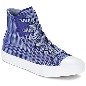 Boty Děti Kotníkové tenisky Converse CHUCK TAYLOR ALL STAR II BASKETWEAVE FUSE TD HI Indigová modř / Modrá / Bílá