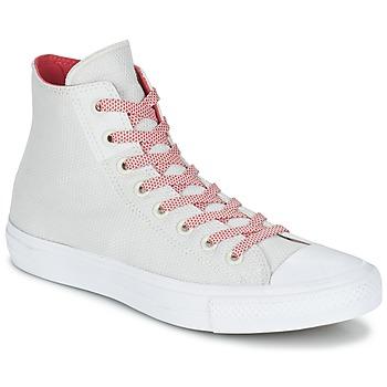 Boty Kotníkové tenisky Converse CHUCK TAYLOR ALL STAR II BASKETWEAVE FUSE HI Krémově bílá / Bílá / Červená