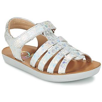 Boty Dívčí Sandály Shoo Pom GOA SPART Stříbrná