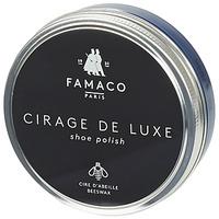 Doplňky  Vosky na boty Famaco Boite de cirage de luxe marine 100 ml Tmavě modrá