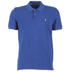 Textil Muži Polo s krátkými rukávy Benetton FOBIKA Modrá