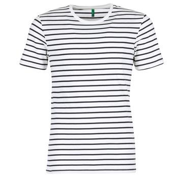 Textil Muži Trička s krátkým rukávem Benetton MAKOUL Modrá / Bílá