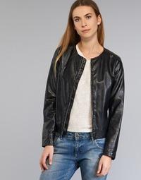 Textil Ženy Kožené bundy / imitace kůže Benetton JANOURA Černá