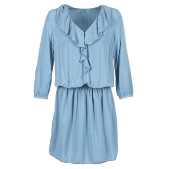 Textil Ženy Krátké šaty Benetton AFIDOUL Modrá