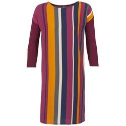 Textil Ženy Krátké šaty Benetton VAGODA Bordó / Vícebarevná