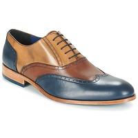 Boty Muži Šněrovací společenská obuv Brett & Sons ROLIATE Hnědá / Béžová / Modrá