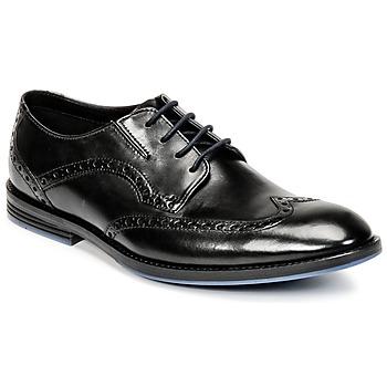 Boty Muži Šněrovací společenská obuv Clarks PRANGLEY LIMIT Černá