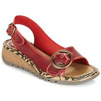 Boty Ženy Sandály Fly London TRAMFLY Červená