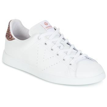 Boty Ženy Nízké tenisky Victoria DEPORTIVO BASKET PIEL Bílá / Růžová / Třpytivý
