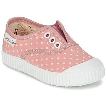 Boty Dívčí Nízké tenisky Victoria INGLESA LUNARES ELASTICO Růžová / Bílá