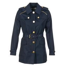 Textil Ženy Pláště MICHAEL Michael Kors ZIPPER YOKE TRENCH Tmavě modrá
