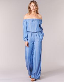Textil Ženy Overaly / Kalhoty s laclem MICHAEL Michael Kors TENCEL OFF SHDR JUMPSUIT Modrá