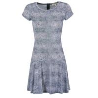 Textil Ženy Krátké šaty MICHAEL Michael Kors ZEPHYR SS FLARE DRS Modrá / Bílá