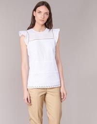 Textil Ženy Halenky / Blůzy MICHAEL Michael Kors COMBO EYELET S/S Bílá