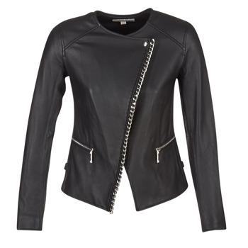 Textil Ženy Kožené bundy / imitace kůže MICHAEL Michael Kors CHAIN FRONT BIKER Černá