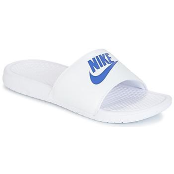 Boty Muži pantofle Nike BENASSI JUST DO IT Bílá / Modrá