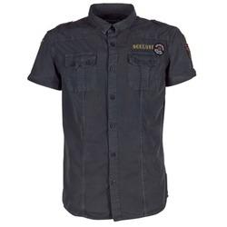 Textil Muži Košile s krátkými rukávy Deeluxe BURTY Šedá