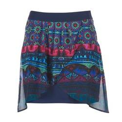 Textil Ženy Sukně Desigual RASSENIO Tmavě modrá