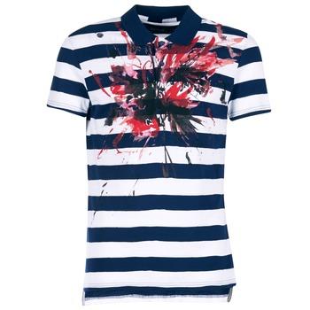 Textil Muži Polo s krátkými rukávy Desigual RELIRA Bílá / Tmavě modrá / Červená