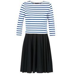 Textil Ženy Krátké šaty Petit Bateau FINALLY Bílá / Modrá