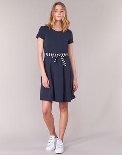 Textil Ženy Krátké šaty Petit Bateau FLARE Tmavě modrá