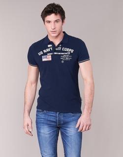 Textil Muži Polo s krátkými rukávy Schott ALEC Tmavě modrá