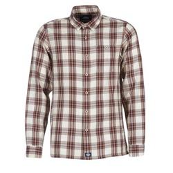 Textil Muži Košile s dlouhymi rukávy Dickies HARRELL Bílá / Hnědá