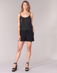 Textil Ženy Overaly / Kalhoty s laclem See U Soon 7191003 Černá
